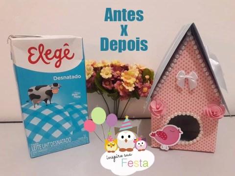 Como fazer casinha de passarinho com caixa de leite
