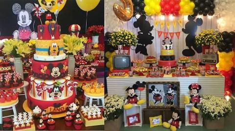 Decoração da Turma do Mickey: mais de 50 ideias
