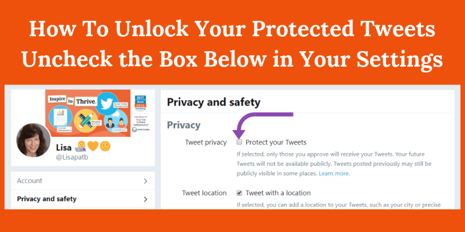 unlock your protected tweets