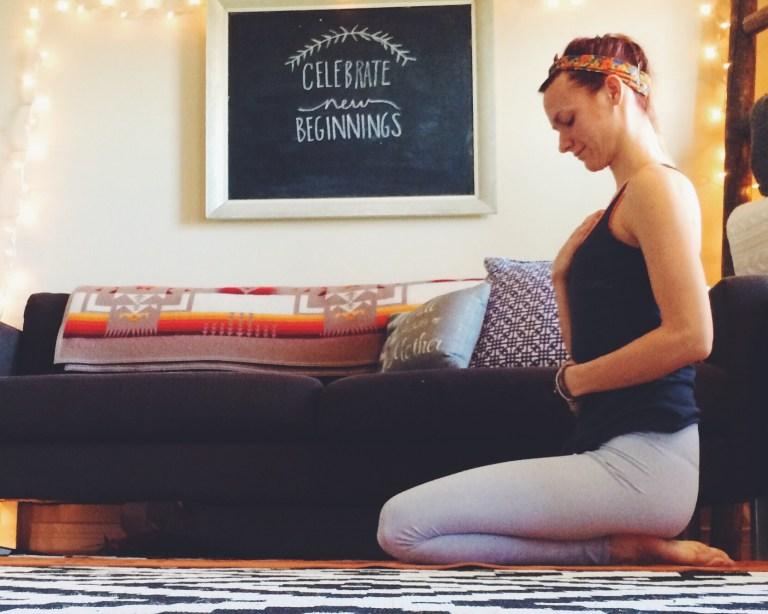 Yoga Stretches belly breathing pranayama