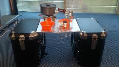 Meja lipat, optional part yang tidak dapat ditemukan di pannier merk lain
