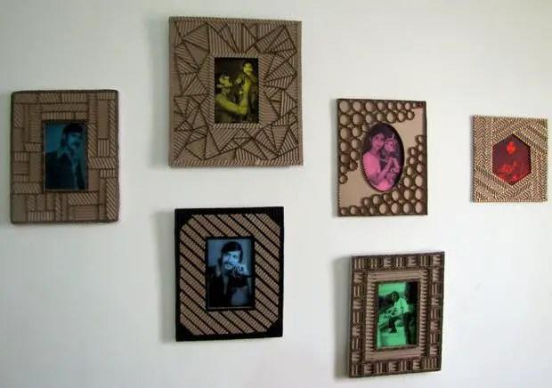 kerajinan dari kardus bekas, cara membuat bingkai foto, cara membuat bingkai foto dari kardus bekas