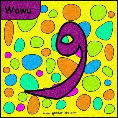 mewarnai huruf hijaiyah dengan gambar yang menyenangkan buat anak