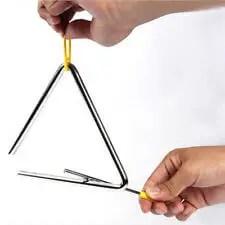 alat musik ritmis, triangle instrument