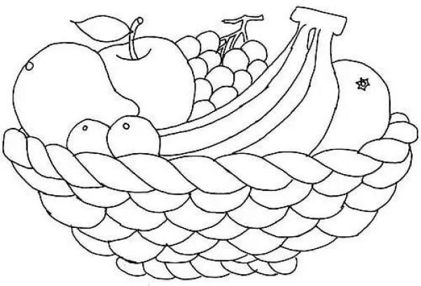gambar mewarnai buah keranjang