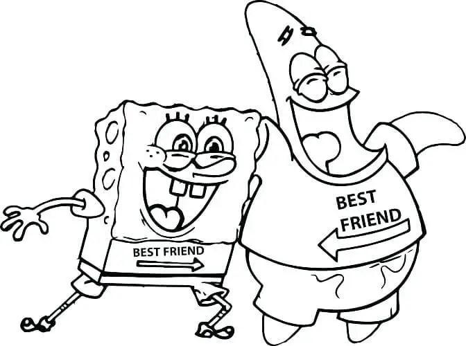 gambar mewarnai spongebob patrick