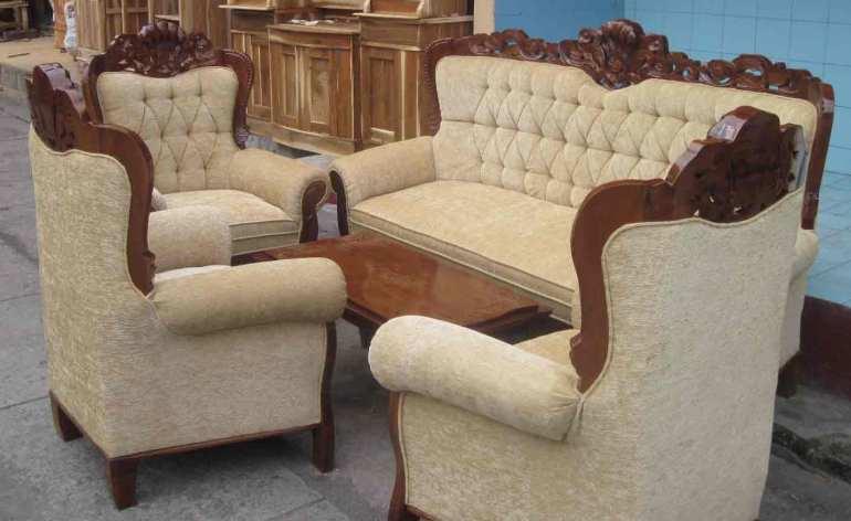 Gambar sofa kayu jati