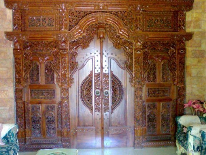 gambar gebyok kayu jati