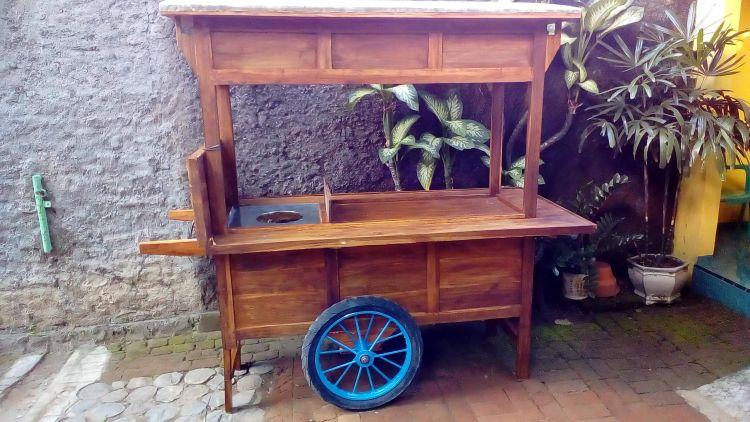 gambar gerobak kayu jati