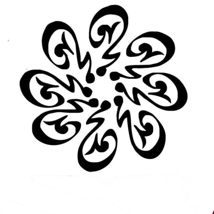 kaligrafi muhammad hitam putih
