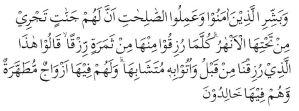 iman kepada hari akhir Qs Al baqoroh 25