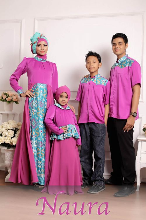 Gamis Batik Kombinasi Kain Polos Model Terbaru 2017 Dress