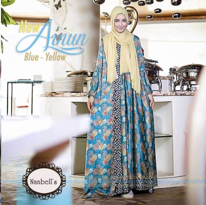 Model-gamis-batik-pesta-muslimah