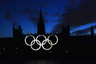 Houses of Parliament lights up
