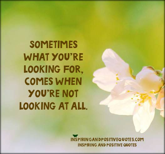 looking at all