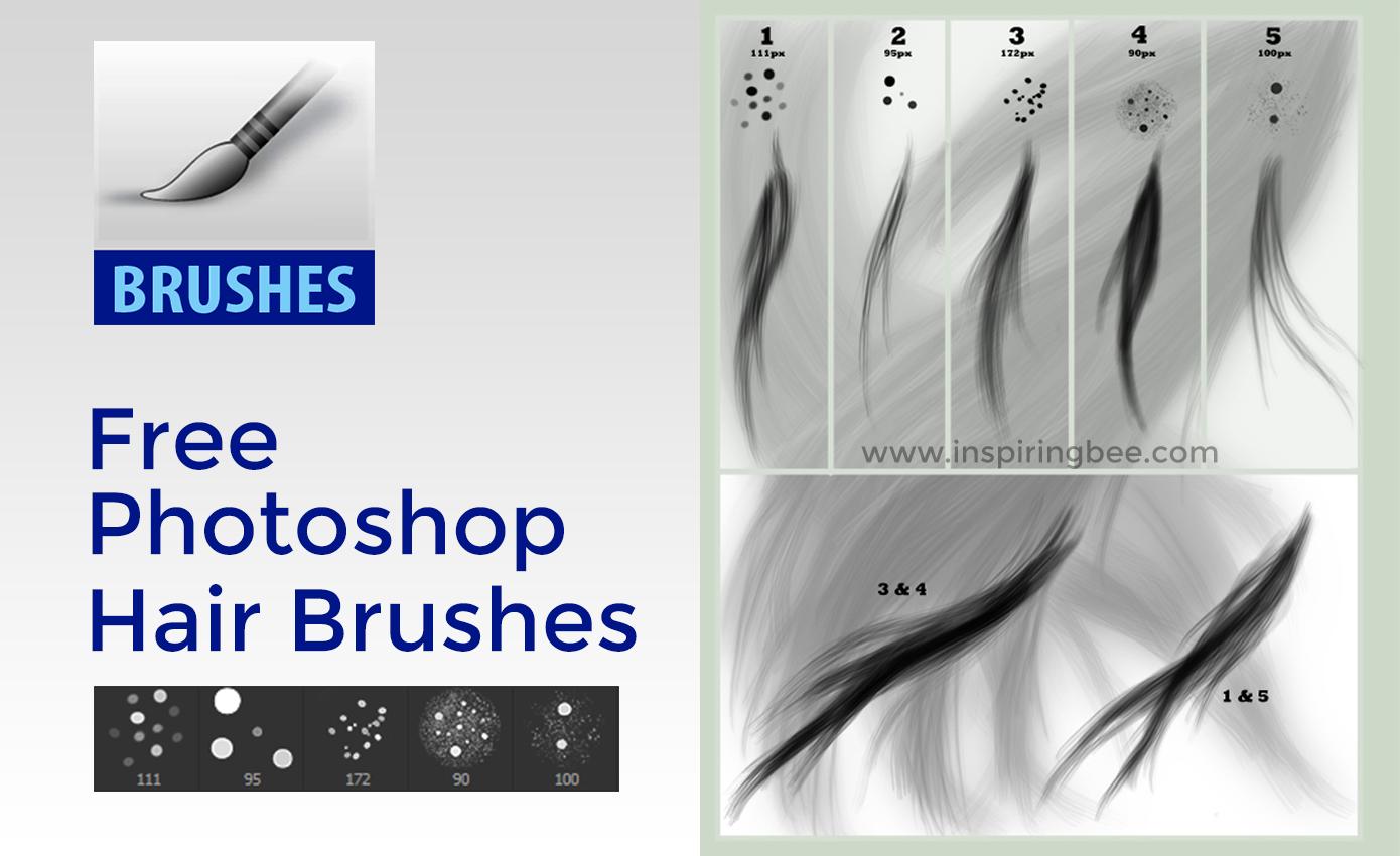 Free Photoshop Hair Brush Set By Para Vine Inspiring Bee