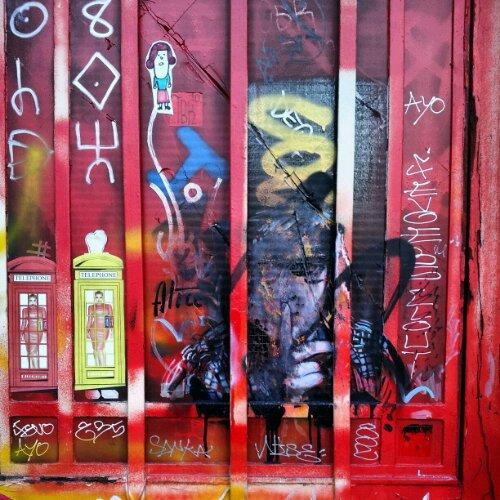 Art by Alice Pasquini vandalised in London