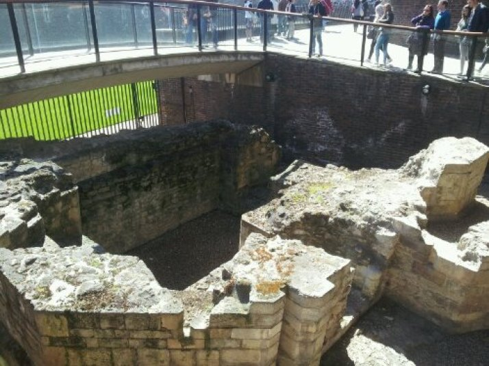 Remains of  a postern gate at Tower Hill
