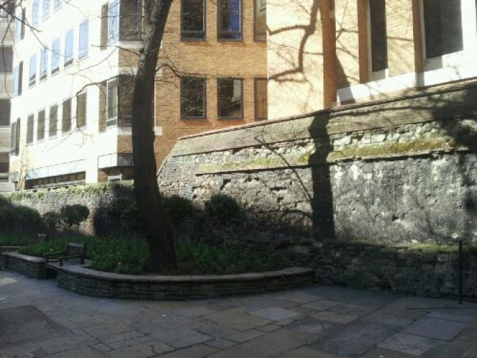 The Roman Wall of London at All Hallows Church