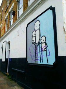 Mrs Moody with her daughters by Stik