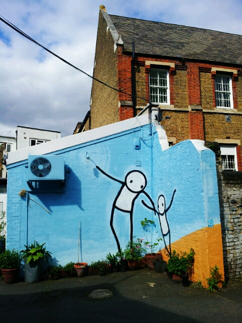 A mural by Stik in Dulwich a great place to find street art in london