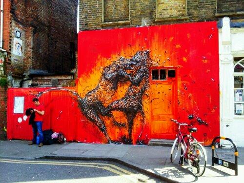 The DALeast fighting Tigers on Hanbury Street