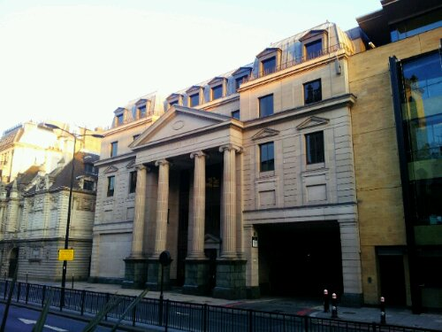 Vintners Hall on Upper Thames Street.