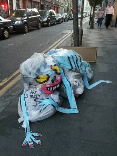 This crawling creature was spotted on Hanbury Street