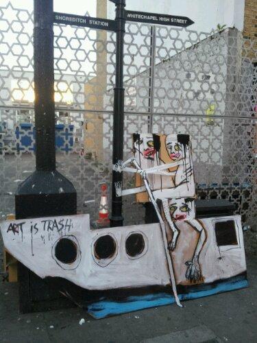 Boat trash on Brick Lane