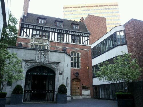 The Ironmakers Company is close to the Museum of London and is a good contrast to the Barbican estate