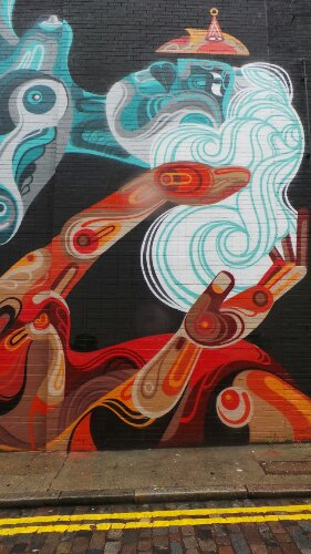 Reka's mural on Chance Street