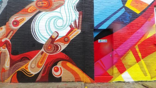Reka's mural finishes and MadC's begins