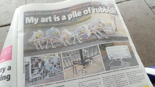 The Metro no less, surely the height of fame