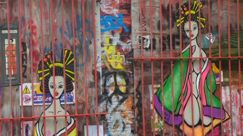 Behind bars of the old warehouse on Sclater Street