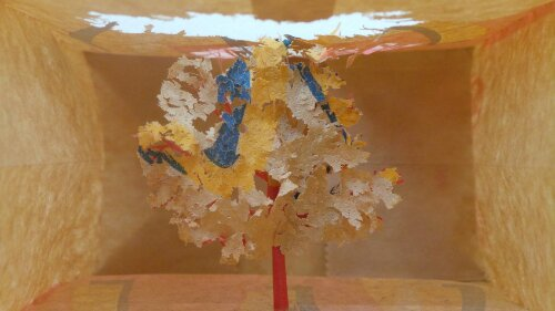 Undoubtedly one of the highlights of the show, this tree is made from a former McDonalds bag