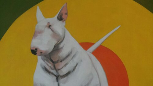 Ray Richardson drew this English Bull Terrier.  He is one of the leading figurative artists in the UK