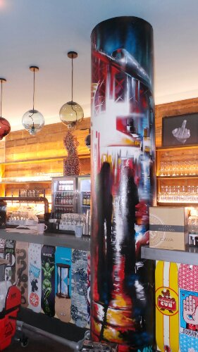 The bar even boasts a Dan Kitchener pillar