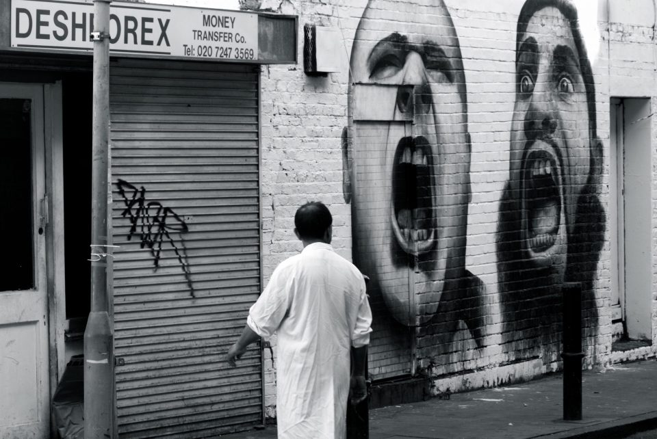 Ben Slow's 'Angry Extremists' piece has long since disappeared.  Picture by Stephanie Sadler