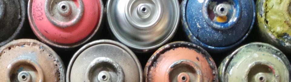 Used Spray Cans