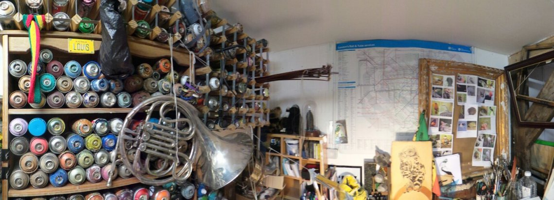 Louis Masai's studio