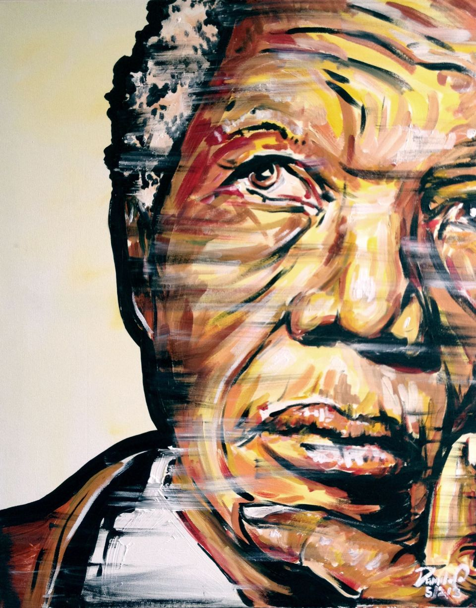 Mandela in ponderous move was posted by Damilola Odusote a talented fine artist from London
