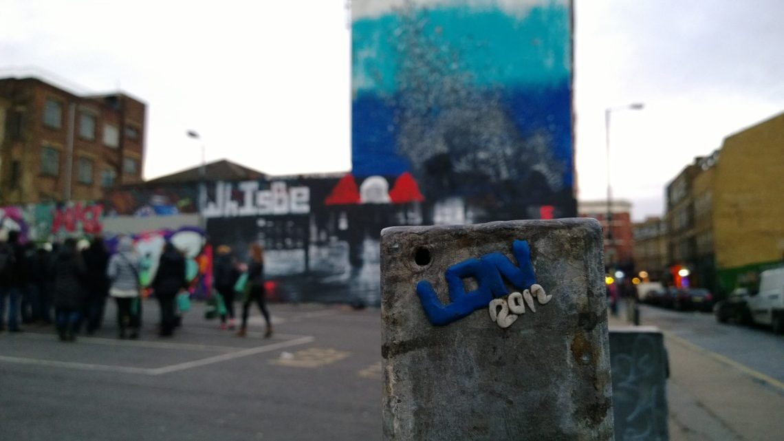 Remnants of some sculptural art from 2012 placed by LDN Graffiti also on the tour and no doubt mortified now that his otherwise hidden little piece has been discovered by the blogosphere