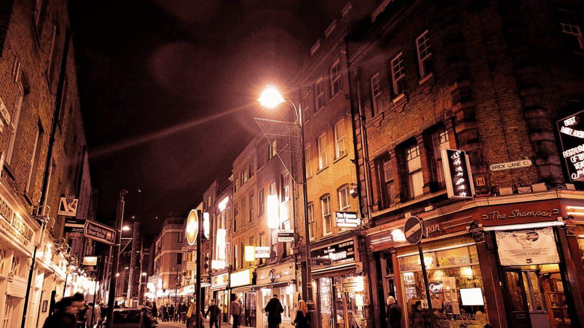 Brick Lane at night
