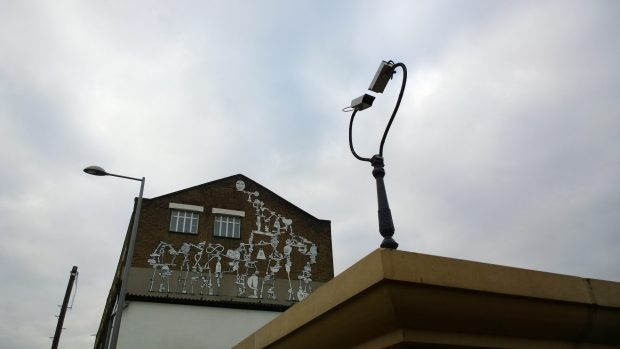 Work by Ekta Ekta at the Crate Brewery with a couple of lovestruck security cameras
