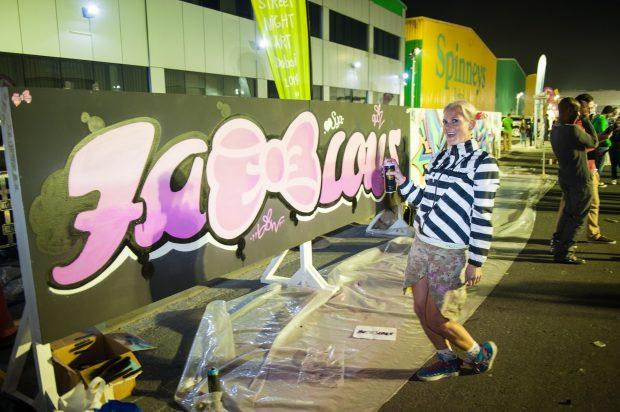 Graffiti Art in Dubai, it's really Fab Bow Lous