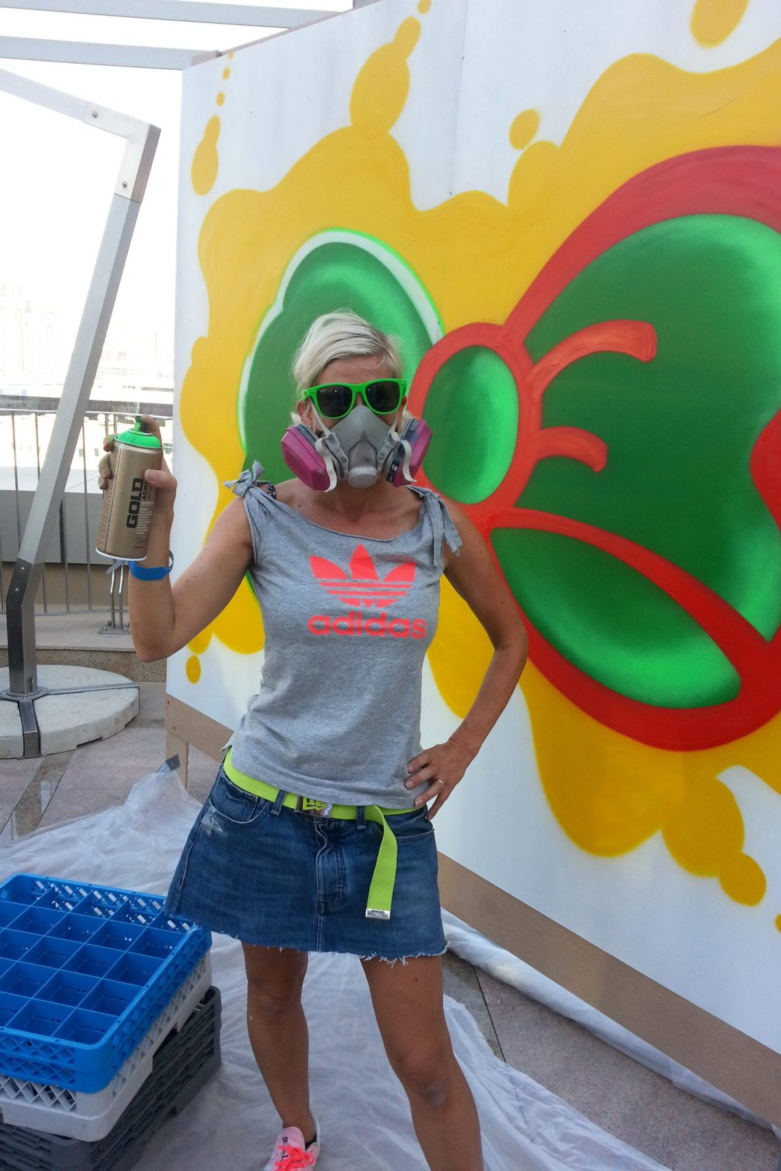Graffiti artist Steffi Bow