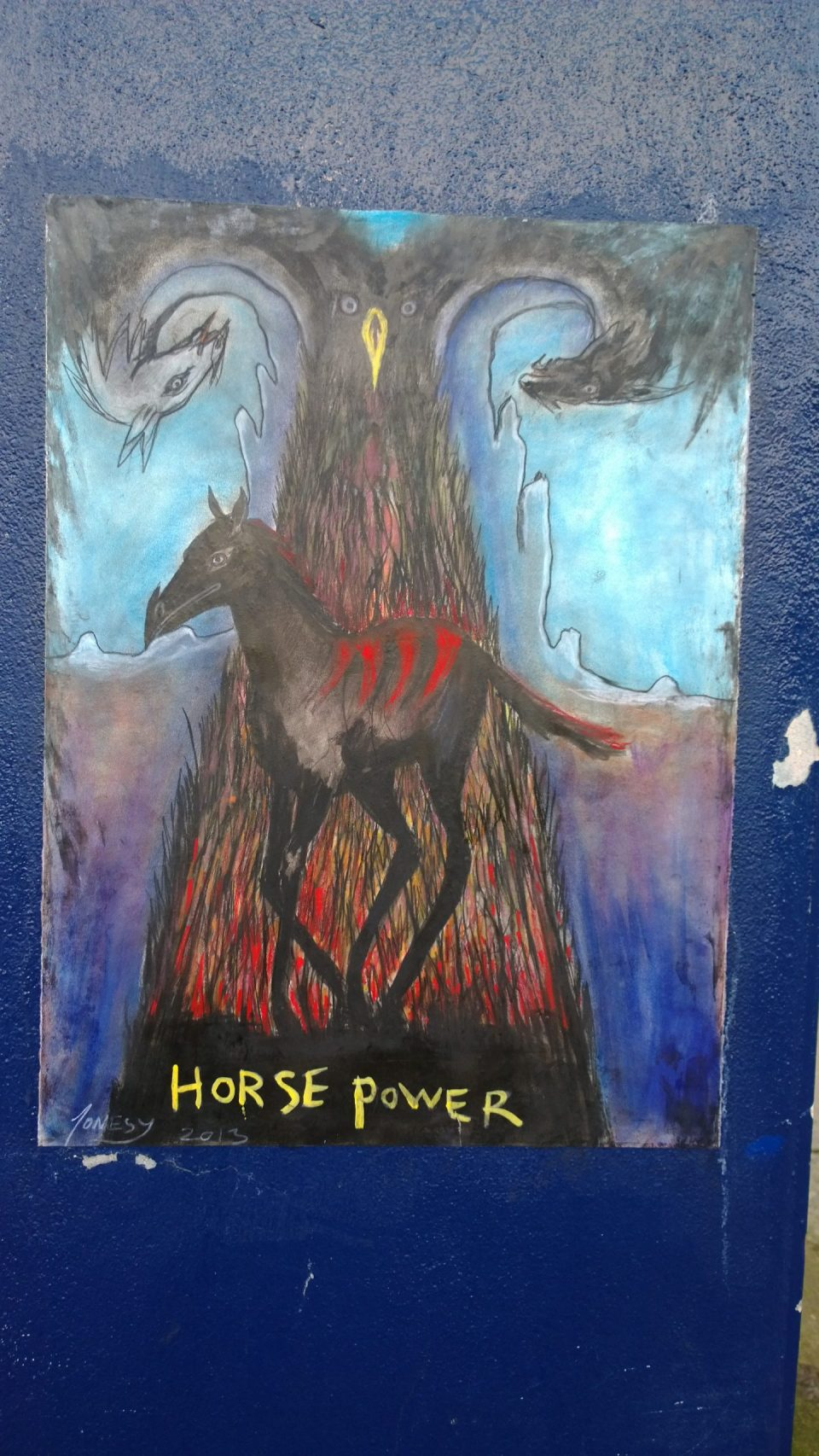 Original art paste up from Jonesy on Hanbury Street