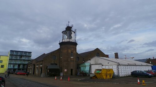 The Lighthouse on the Wharf is the last remaining one in London