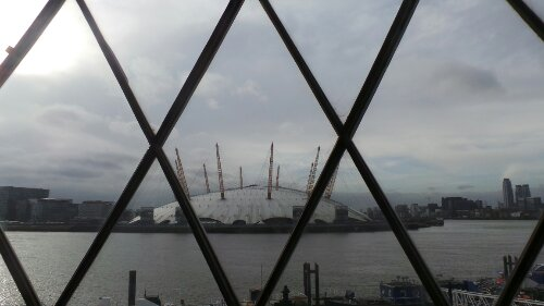 The 02 seen from the Trinity Buoy Wharf Lighthouse