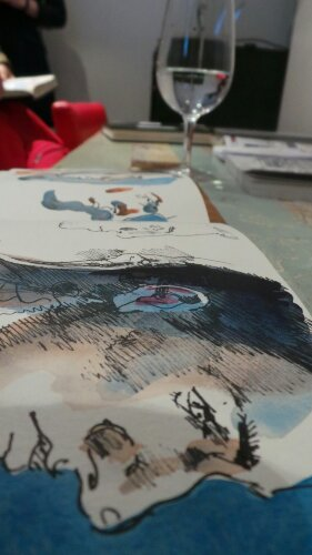 Each sketchbook contained a lot of dfferent images of people and places in London